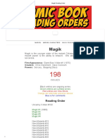 Magik Reading Order