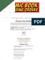 Kraven the Hunter Reading Order