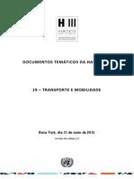 Documentos Temáticos Da Habitat III 19 – Transporte e Mobilidade