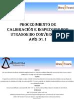 Procedimiento de Calibración e Inspeccion Por Utrasonido Convercional