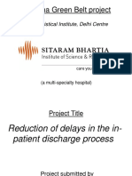 SSGB Project, Redn of Delays in IPD Discharge