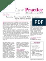 "Fassler, Elizabeth and Gethaiga, Wanjiro (2011). ""Representing Parents During Child Welfare Investigations"
