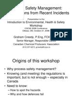 Process Safety Management Fundamentals