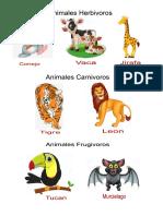 Clases de Animales Sacar en Libro