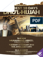 Sheikh Muhammad Jibreel at Bilal Academy Tuesday 14th August 2018