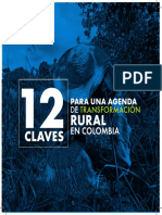 12 claves para una agenda de transformación rural en Colombia