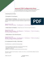 SAP travel management configuration steps