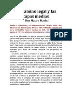 El Camino Legal y Las Capas Medias Ruy Mauro Marini