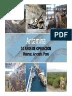 1 Presentacion Jose Arredondo - Antamina 10 Años de Operacion