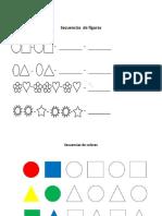 secuencia de colores y figuras
