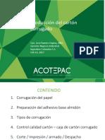 Producción de Cartón Corrugado - Ing. Qco. Ramiro Ospina