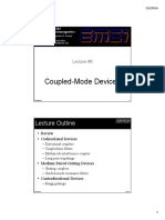 Lecture 6 -- Coupled-mode Devices
