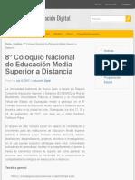 8° Coloquio Nacional de Educación Media Superior a Distancia | Educación Digital