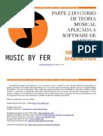 Teoria Musica Aplicada a Software de Musica Melodias e Harmonia
