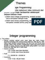 Integer and Binary Programming