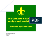 My Greedy Creoles Recipe and Cookbook