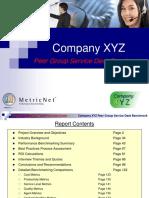 Service Desk Peer Group Sample Benchmark From MetricNet v2 1
