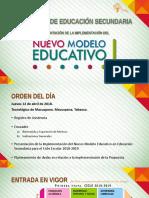 12 Abril - Presentación Implementación Del Nuevo Modelo Educativo