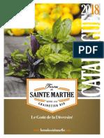 Ferme de Ste Marthe Catalogue-2018
