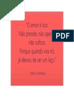 Amor -Mario Quintana