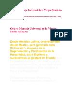Octavo Mensaje Universal de La Virgen María 4a Parte