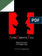 Actors Company of Tulsa Press Packet