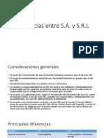 Diferencias Entre SA y SRL