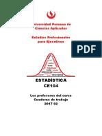 Estadística Cuaderno de Trabajo