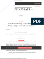 How Walt Disney Evolved Under Dennis Hightower's Leadership Business Articles