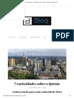 Desenterrando_ 7 Curiosidades Sobre o Quênia
