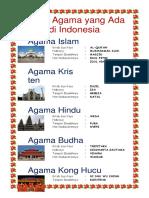 Nama Agama Yang Ada DI INDONESIA