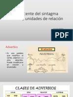 Adyacente del sintagma verbal y unidades de relación.pptx