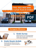 BERKUALITAS, 0822 9000 9990, Jasa Bangun Rumah Kost Di Cirebon