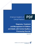 AAA - 2010 - Diagnosis Treatment and Management of Children and Adults With Central Auditory Processing Disroder-Annotated