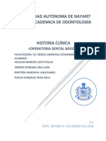 Historia Clínica-operatoria Denltal Básica