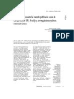 Fisioterapia Ambulatorial Na Rede Pública de Saúde de Campo Grande (MS, Brasil) Na Percepção Dos Usuários Resolutividade e Barreiras