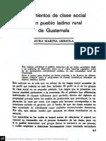 Aura Marina Arriola - Lineamientos de Clase Social en Un Pueblo Ladino Rural de Guatemala