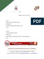 03derecho Petición a Cnsc y Dafp Encargos y Nombramientos Provisionales