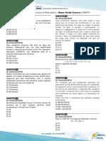 Exercícios de revisão matemática