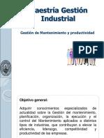 Gestic3b3n de Mantenimiento y Productividad