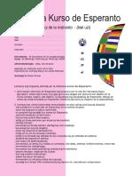 Intensiva Kurso de Esperanto Antaupaghoj E o