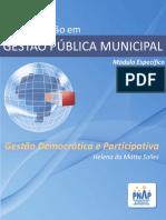 Modulo Especifico - Municipal - Gestao Democratica Participativa