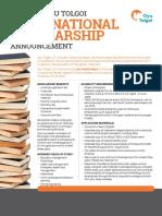 International Scholarship  En