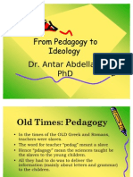 From Pedagogy to Ideology