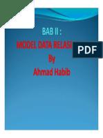 Bab II Model Data Relasional