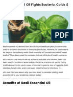 Basil Essential Oil Fights Bacteria, Colds & Bad Odor - Dr