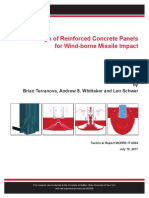 Design of Reinforced Concrete Panels for Wind-borne Missile Impact