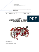 BASIC SKETCHING & DESIGN MECHANICAL PROJECT