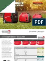 Honda Generator Brochure