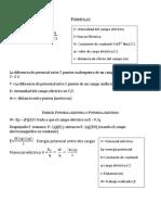Formulas FISICA 222